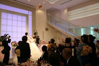 結婚式の退場イメージ